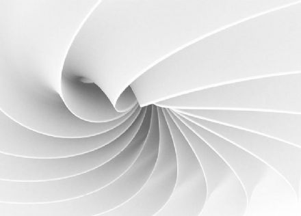 White swirls abstract paper wallpaper